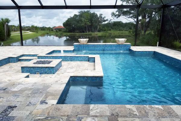 Residential Geometric Design Award Winner Pool Builder in Venice, FL.