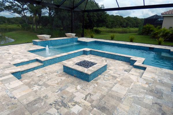 Concrete Residential Geometric Design Award Winner Pool Builder in Venice, FL. 2